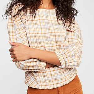 Free People Runaway In Love Button Down Back